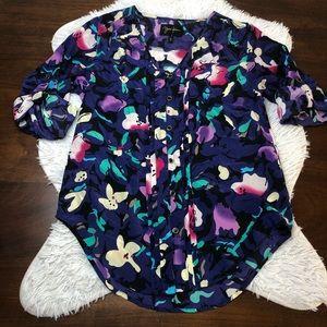 Yumi Kim Silk Floral Blouse